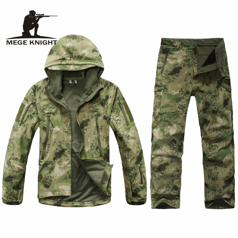 Camouflage military uniform, winter thermal fleece tactical clothes, U.s. army military clothing image