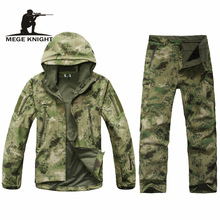 Kamuflażowy mundur wojskowy, zimowa odzież wojskowa z polaru termicznego, odzież militarna armii usa