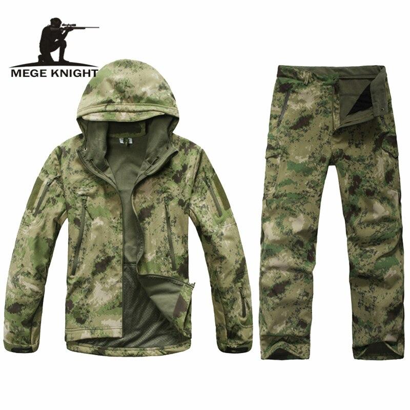 Uniforme militaire Camouflage, vêtements tactiques en polaire thermique d'hiver, vêtements militaires de l'armée américaine