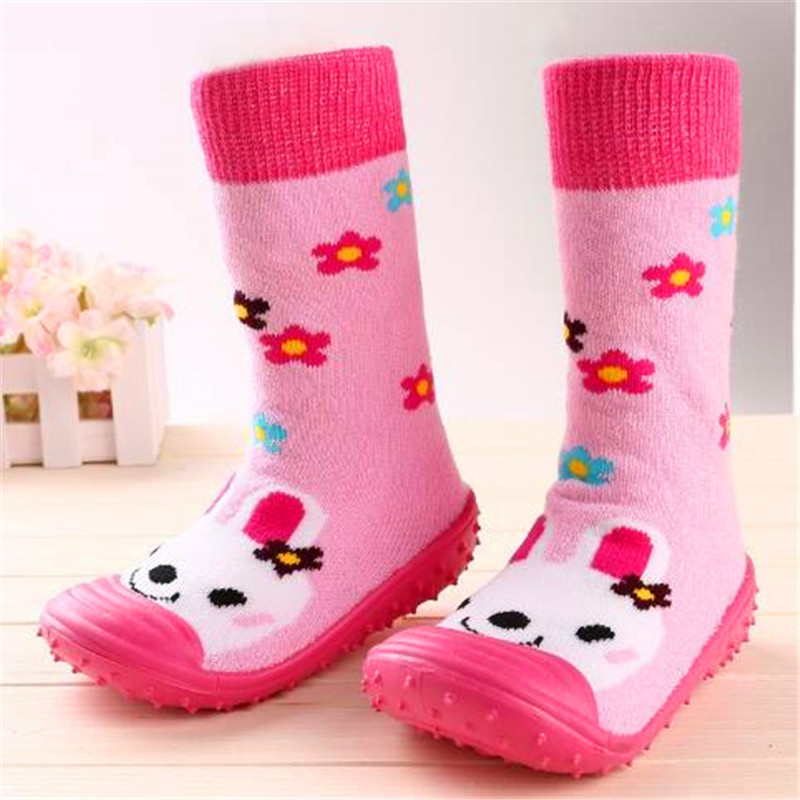 Kleinkind Schuhe Baby Mädchen Jungen Socken mit Gummisohlen Anti - Babyschuhe - Foto 3
