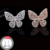 Ataullah Flying Butterfly Ring Copper Alloy Rings Temperament Adjustable Jewelry for Woman Girls Chrismas Birthday Gift RW022NS2