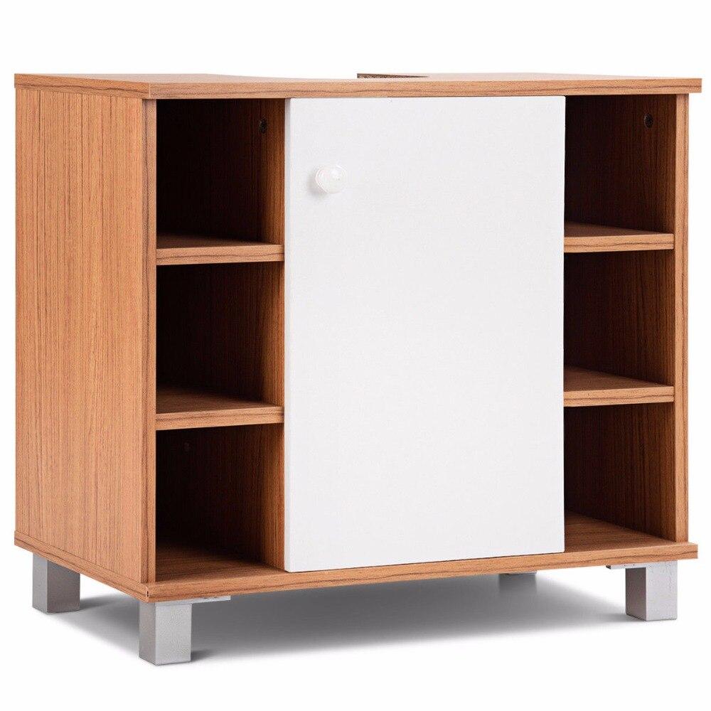 Giantex Under Sink Cabinet Bathroom Spacesaver Storage Cabinet 6 Cube Vanity Organizer Modern Bathroom Furniture BA7403 6