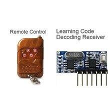 QIACHIP 433 Mhz Fernbedienung und 433 Mhz Wireless Receiver Lernen Code EV1527 Decodierung Modul 4Ch ausgang Mit Lernen Taste
