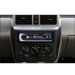 Image 2 - Podofo Bluetooth Autoradio Car Stereo Radio FM Aux Input Receiver SD USB JSD 520 12V In dash 1 din Car MP3 USB Multimedia Player