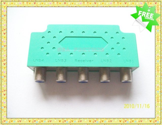 Lots of 4 PCS DISEqC  Satellite Signal Switch  4X1 HIGH Switch, Water Proofing, free shipping