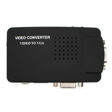 AV RCA для VGA конвертер Композитный S-video сигнал адаптер Поддержка 3D с VGA петля для монитора компьютера STB DVR