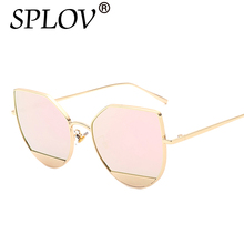 2017 Cat Eye Blue Sea Tears Sunglasses Women/Men Metal Fashion Sun Glasses Gafas Oculos de sol feminino hombre Quicksilver