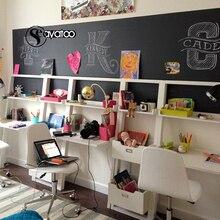 60x200cm Erasable Blackboard Chalkboard Vinyl Wall Sticker Decal Kids Room Nursery Office Home цена 2017