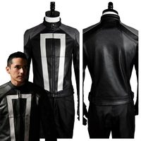 Agents of Shield S.H.I.E.L.D Ghost Rider Cosplay Costume Jacket+Gloves