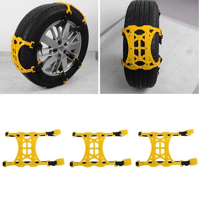 chaude 1 pc d 39 hiver camion de voiture pneu cha ne neige anti d rapage ceinture facile. Black Bedroom Furniture Sets. Home Design Ideas
