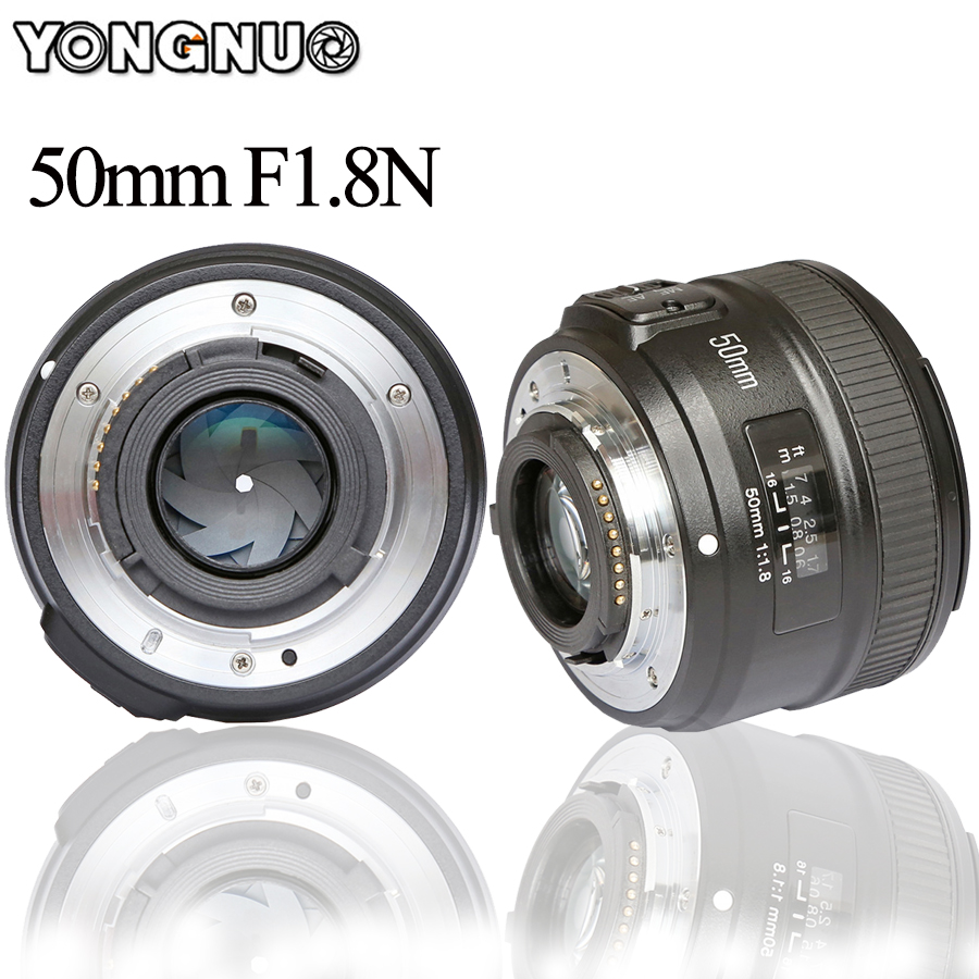 YONGNUO YN50mm Lens fixed focus EF 50mm F1.8 AF/MF lense Large Aperture Auto Focus Lens  ...