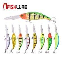 Trolling Fishing Bait 17g/130mm Big Tongue Fishing Lure Crankbait Bionic Minnow Lure Iscas Pesca Fishing Minnow Tackle Afishlure цена