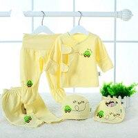 Hot Sale Wholesale Newborn Baby Underwear 5pcs Suits Autumn Gift Bebe Clothing Set Cotton 100 Cotton