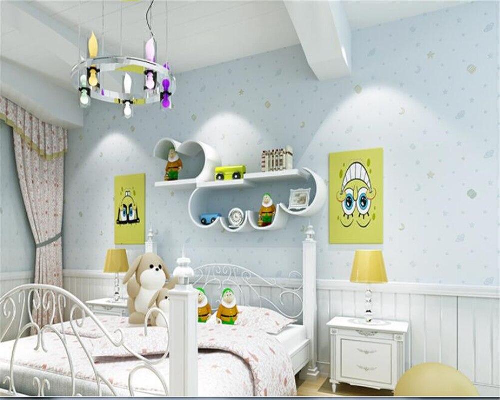 Beibehang papier peint pour murs 3 d lModern cartoon chambre d'enfants papier peint maison intérieur mural étoile flocage papier peint rouleau