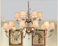 K9 Crystal Fabrics Chandeliers Vintage American Minimalist Personality Suspension Lighting Living Room Art Deco Hanging Lamp