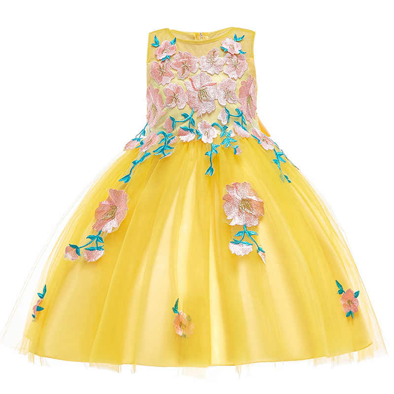 32e795b72eef8 New Flower Girls Dresses For Wedding and Party Dresses 2019 Summer Kids  Girls Princess Dress Christmas Children Costume 10 Year