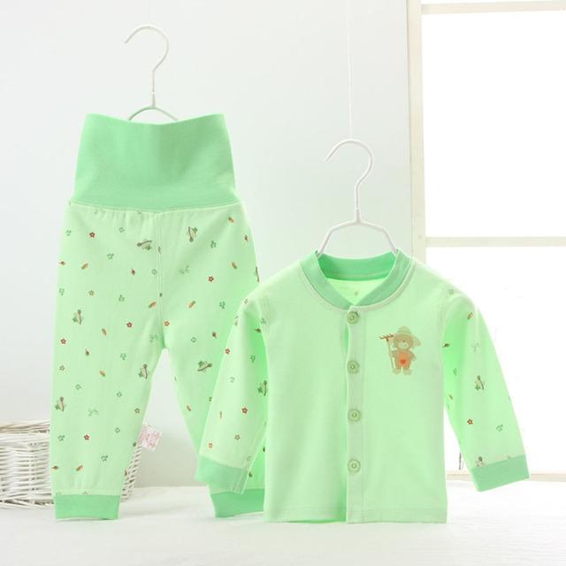 Ropa de los niños establece Bebé ropa interior térmica de invierno pantalones de cintura alta se puede abrir la entrepierna de algodón materiales