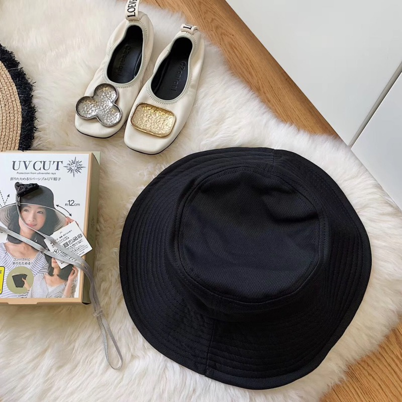 2019 Hats For Women Bucket Hat Sunscreen All match Solid Color Double Sombrero Mujer Side With Steel Ring Beach Hat in Women 39 s Sun Hats from Apparel Accessories