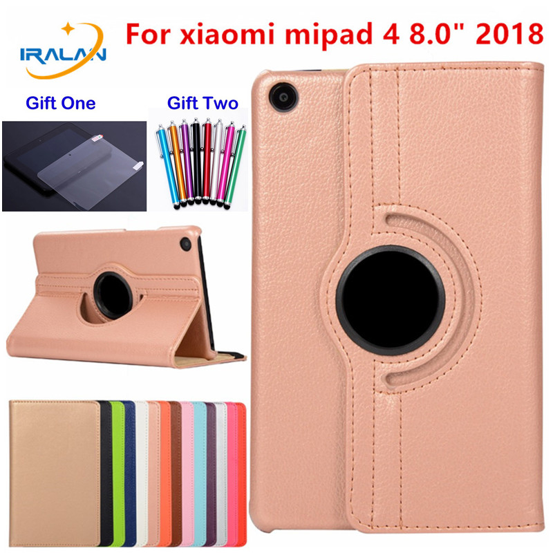 2018 new 360 Degree Rotating Flip PU Leather Case For Xiaomi MiPad 4 Mi Pad 4 Mi Pad4 8.0