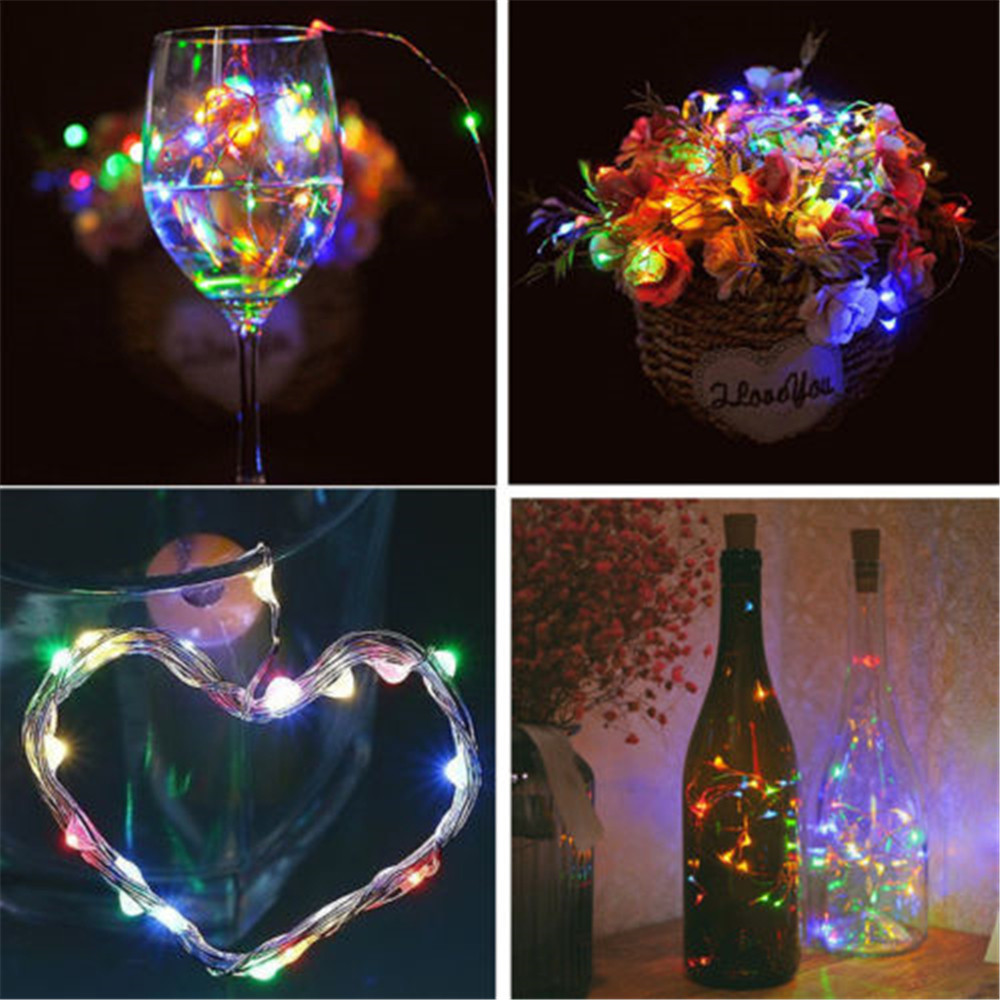 1 Pc 1m 10 Led Bottle Lights Cork Shape For Wine Bottle String Party Romantic In Many Styles Festive & Party Supplies