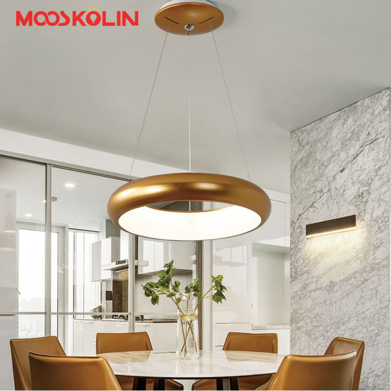 Nordic Modern Led Pendant Lamps for dinning Room Acrylic round circle hanging lamp 85-265V led restaurant kitchen pendant light modern led pendant lamps for dinning room acrylic round circle hanging lamp 85 265v led dining room kitchen pendant light