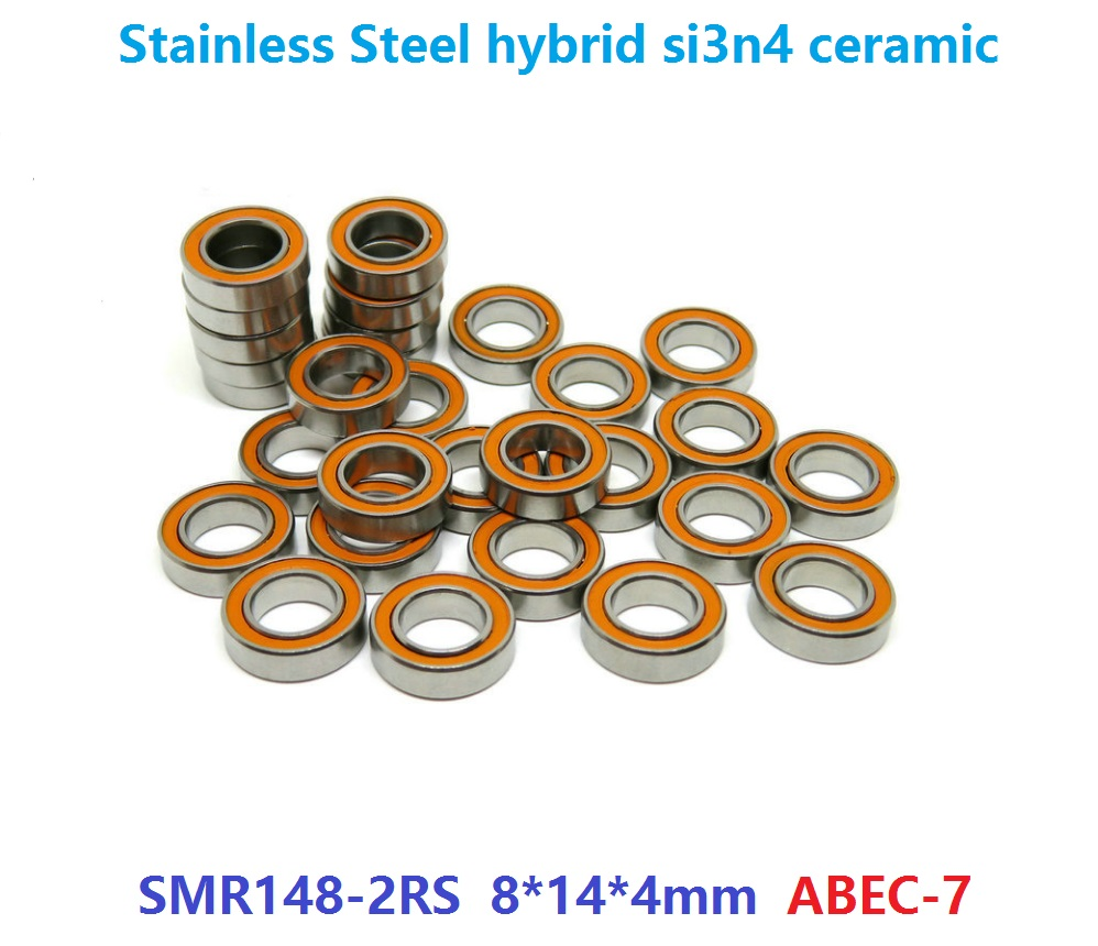 6pcs/10pcs ABEC-7 SMR148-2RS SMR148 2RS RS 8x14x4 mm ABEC7 Stainless Steel hybrid si3n4 ceramic bearing fishing reel 8*14*4mm free shipping 4pcs 7x11x3 metal shields hybrid ceramic balls bearings abec 7 stainless steel smr117c rs