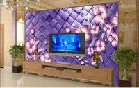 3d Wallpaper Custom Mural Non Woven Wall Stickers Sitting Room 3 D TV Setting Wall The