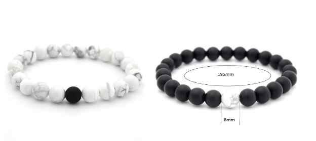 New Couple Bracelet Buda Bracelets For Men Women Natural Stone Men Jewelry Femininity Lover Handmade Beads Bracelets  8mm Width