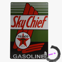 Craft Gifts Sky Chief Gasoline Vintage Style Metal Tin Motor Oil Advertising A8