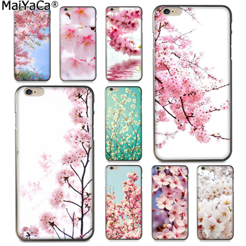 Maiyaca Sakura Flower Japan Cherry Blossoms Funny Phone Case Colorful Cover For Apple -2728