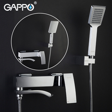цены Gappo Chrome Brass Shower Faucet Bath Mixer Water Tap Waterfall with Hand Shower Head Set Wall Bathroom Rain Shower Set griferia