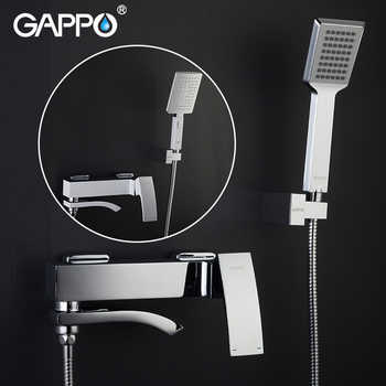 Gappo Chrome Brass Shower Faucet Bath Mixer Water Tap Waterfall with Hand Shower Head Set Wall Bathroom Rain Shower Set griferia - DISCOUNT ITEM  53% OFF All Category