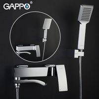 Gappo Chrome Brass Shower Faucets Bath Shower Mixer Water Tap Waterfall with Hand Shower Head Set Wall Bathroom Rain Shower Set