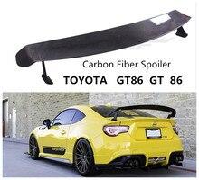Углеродного волокна спойлер для TOYOTA GT86 GT 86 2011 12 13 14 15 16 2017 2018 крыло Спойлеры высокое качество модификация автомобиля аксессуары
