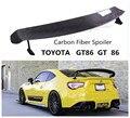 De fibra de carbono de Spoiler para TOYOTA GT86 GT 86 DE 2011 12 13 14 15 16 2017 2018 ala Spoilers de alta calidad accesorios de modificación de coche