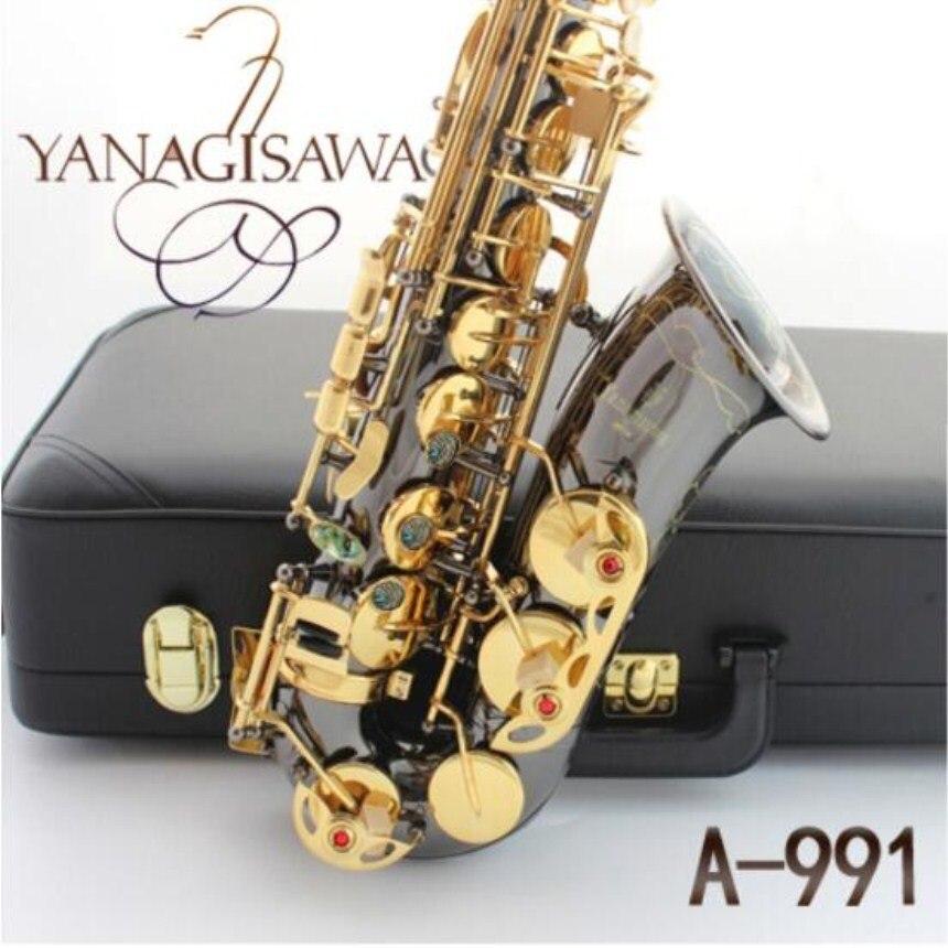 Japan Musical instrument New YANAGISAWA A 991 E flat Alto saxophone Black Nickel Gold Saxophone Professional Free Shipping alto saxophone musical instruments high quality japan yanagisawa w01 a 901 e flat saxophone yanagisawa alto sax professional