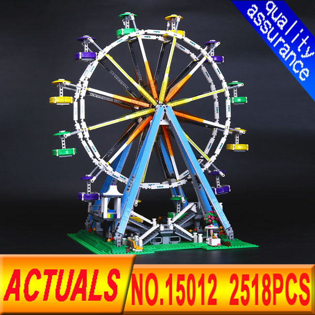 LEPIN 15012 2518Pcs City Expert Ferris Wheel Model Building Kits Blocks Bricks Toys Compatible with legoed 10247 free shipping lepin 2791pcs 16002 pirate ship metal beard s sea cow model building kits blocks bricks toys compatible with 70810