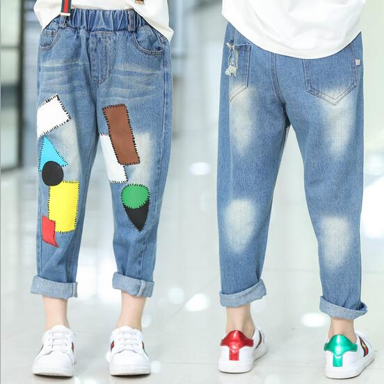 137a4fdb1 2017 Autumn Baby Girls Jeans Kids Denim Pants Toddler Girl All Match  Trouser Children Clothes Cowboy Pockets Fall 6 15T Teenage-in Jeans from  Mother & Kids ...