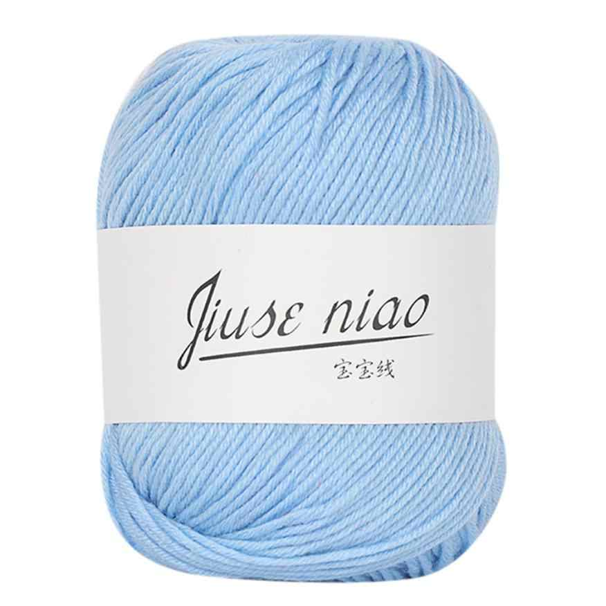 Tecido de algodão para bebês, 1 peça 50g, robusto, colorido, para tricô, de crochê, de alta qualidade, diy, cobertor de malha fio de crochê