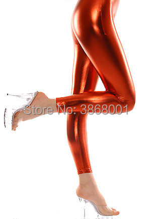 Brand WaterMonkey Adult Sexy Shiny Metallic pure color Long Pants Dress Up Fancy Tights Pants Mix Color Trousers