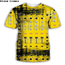fashion Dj controller 3D printed Men for Rock disco player DJ Tee LED T Shirt Flashing Equalizer EL picture on T-Shirt 03