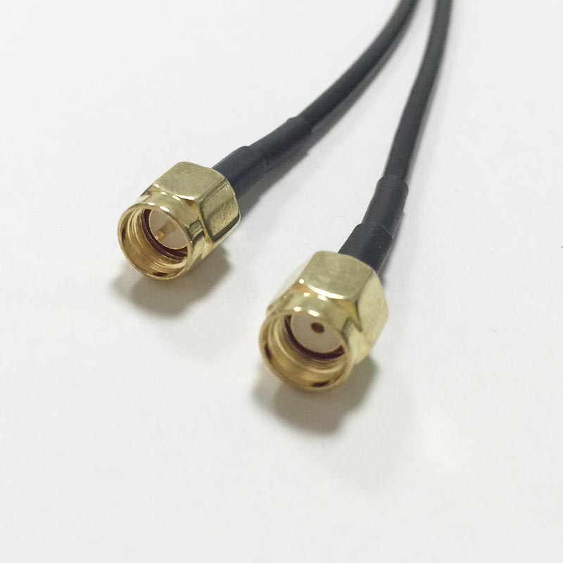 WIFI antenna extension cable SMA male to RP SMA plug pigtail adapter RG174 100cm wholesale price