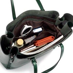 Image 5 - FUNMARDI Бренд Дизайн Восковая Кожаная Сумка Роскошные высококачественные женские сумки Высокоемкая Сумка Кожаная Сумка На Молнии WLHB1723B