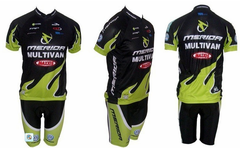 Free shipping! MERIDA-2 team cycling jersey and shot / short sleeve jerseys+Z123 bike bi ...