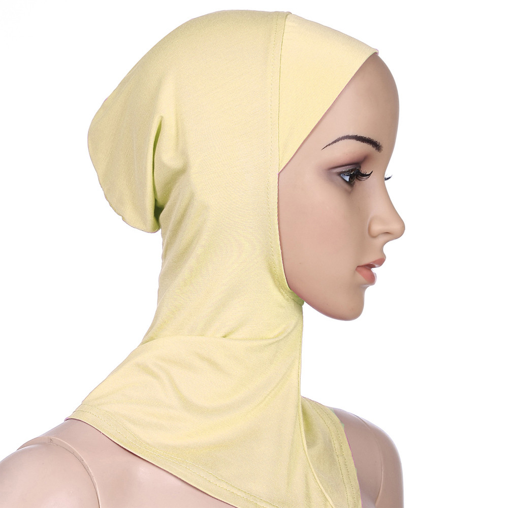 Women Muslim Hijab Shawls Women Muslim Stretch Turban Hat Chemo Cap Hair Loss Hat Muslim Head Scarf Wrap Cap C0412