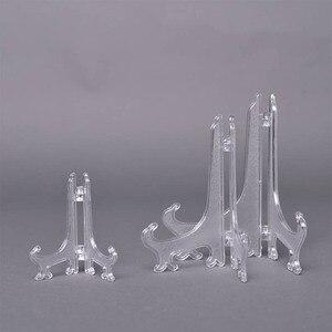 Image 3 - 10 cái/bộ Nhựa Easels Đĩa Đựng Hình Khung Hình Cuốn Sách Ảnh Bệ Giá Đỡ Di Động Đỡ Stander