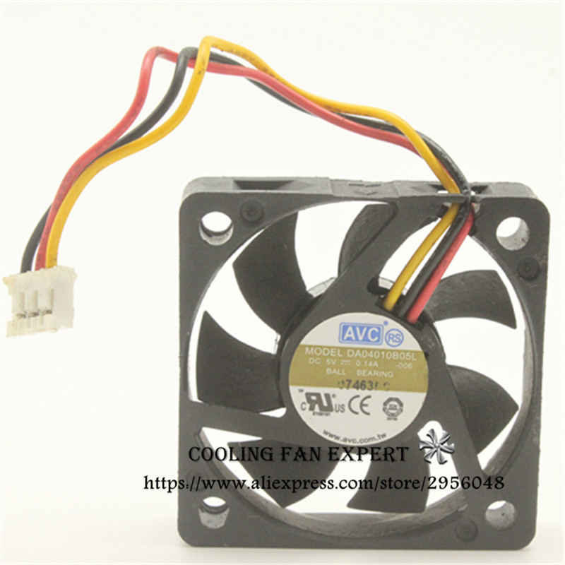 AVC 40*40*10MM DA04010B05L DC5V 0.14A 4CM 3Pin Cooling Fan