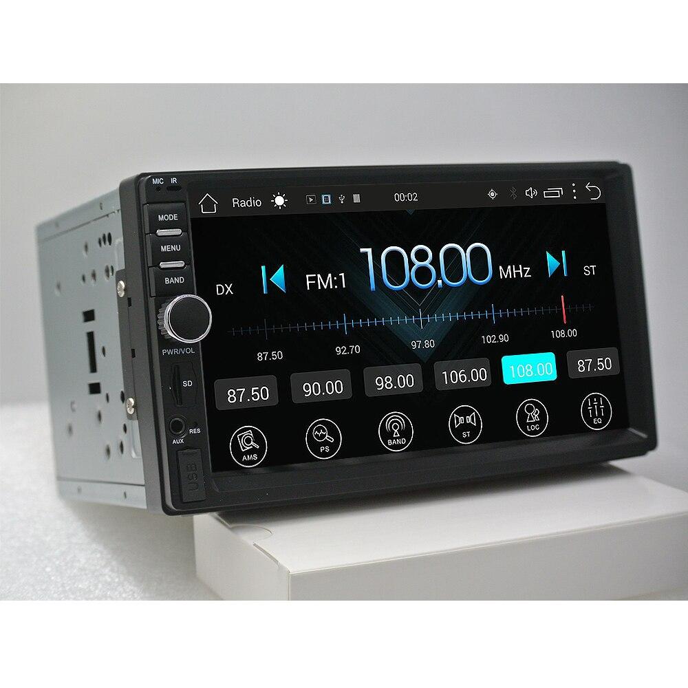 Rythme 2 din android 6.0 voiture radio auto bluetooth double din multimédia lecteur universel GPS Navigation 1024*600 soutien dab
