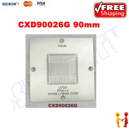Freeshipping. 90mm * 90mm PS4 stencil CXD90026G for BGA repair. pitch 0.8 match with 0.25mm solder balls freeshipping 100% new intel 82801hbm ic chipset with bga stencil 90mm nh82801hbm