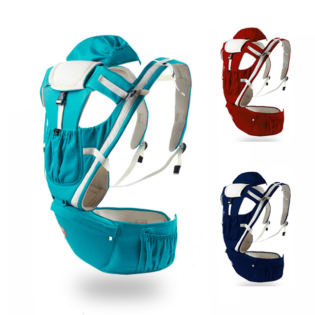 Outdoor Kangaroo pure cotton Baby Carrier Sling Backpack New Born Baby Carriage Hipseat Sling Wrap Summer and Winter